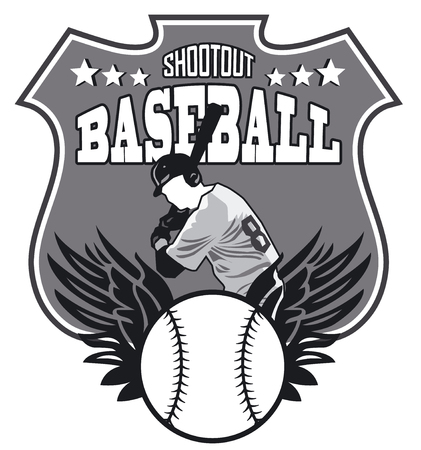 shootout: baseball sign Illustration