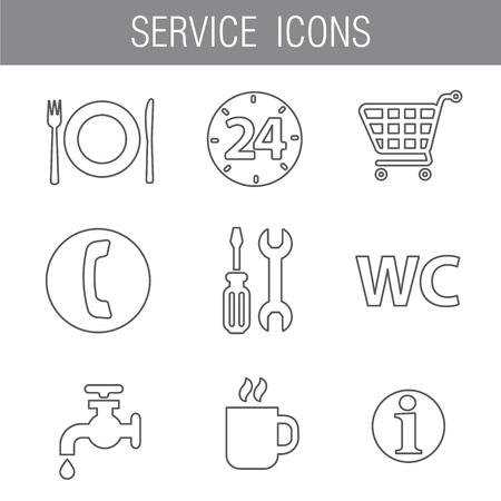 gray: service icon set gray