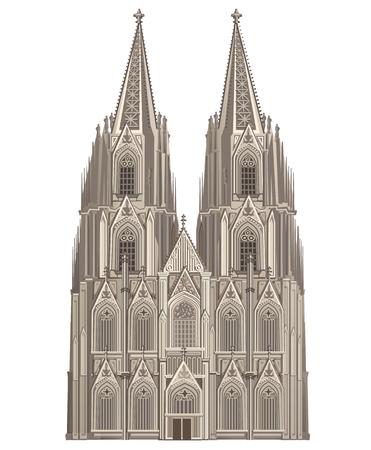dom: Cathédrale de Cologne Illustration