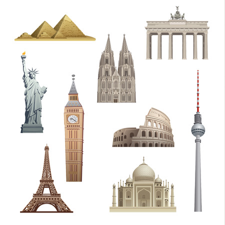 cologne: landmarks of the world Illustration