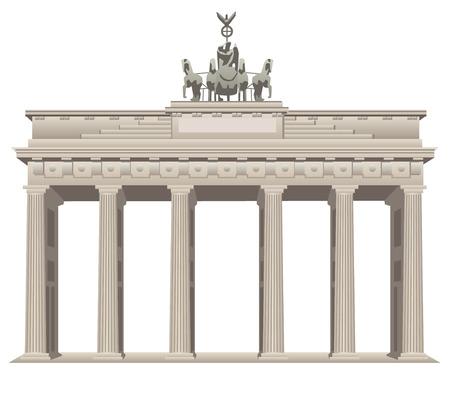 gates: brandenburg gate in Berlin Illustration