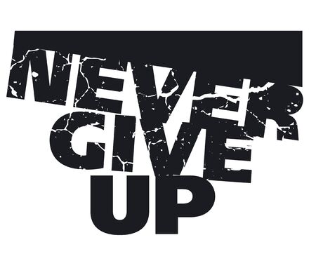give: never give up concept illustration