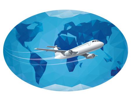 air travel: air travel around the world Illustration