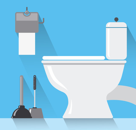 clean bathroom: toilet room Illustration