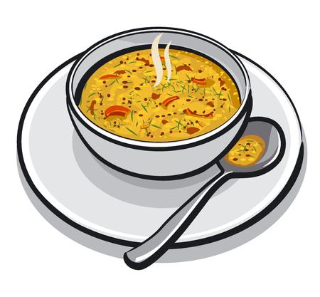 Gorąca zupa jarzynowa