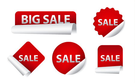 sale icons: advertising sale stickers, design promotion icons and banners