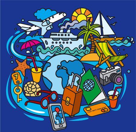 viajar por todo el mundo garabatos