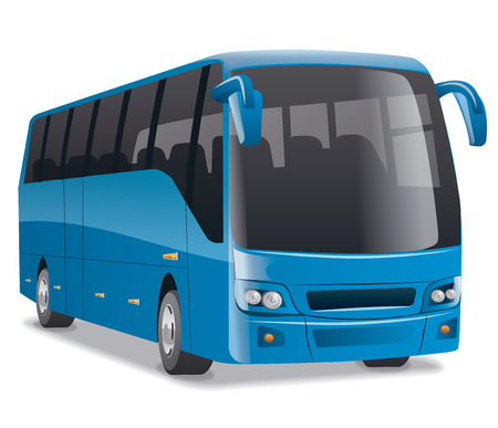 blue city bus