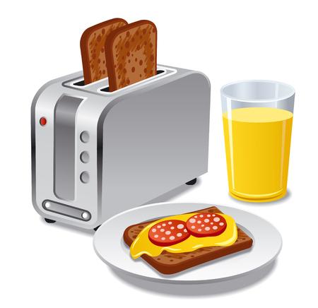 prima colazione con toast
