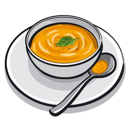 puree: pumpkin soup