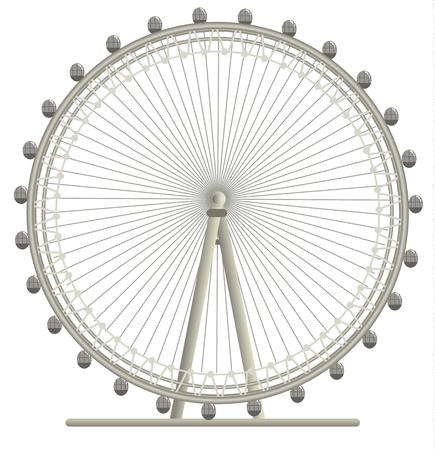 ロンドンアイ、ロンドンの巨大な車輪のイラスト  イラスト・ベクター素材