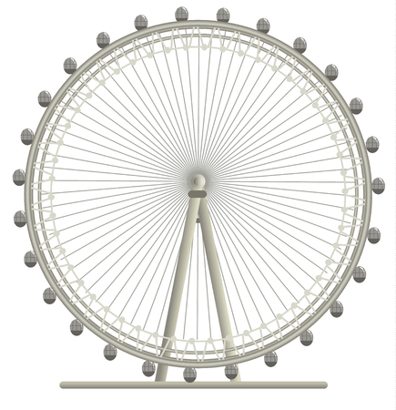 Illustration of London Eye, giant wheel in London
