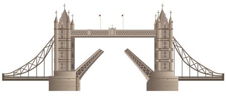 london bridge: illustration of london bridge in england