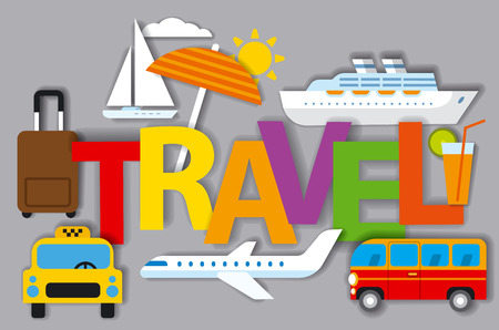 cruise travel: illustration of badges for travel concept and resort, cruise and journey
