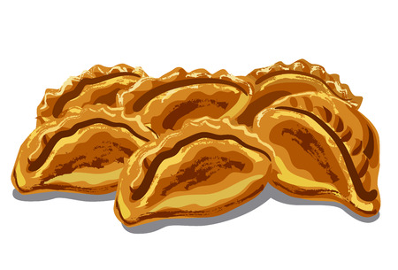 illustration of fresh hot pastries