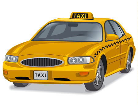 yellow taxi: illustration of yellow taxi