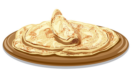 pita bread: illustration of traditional freshly baked pita bread