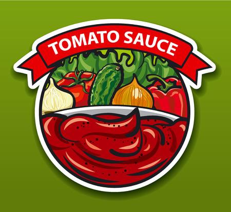tomato sauce: label and sticker of tomato sauce