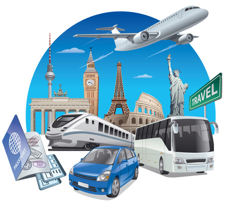 aircraft: concept illustration of transport for travel around the world