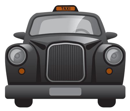 illustration of classic british london taxi cab