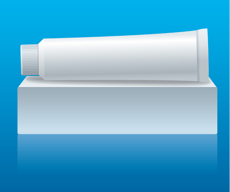 illustration of mock up for toothpaste tube packaging