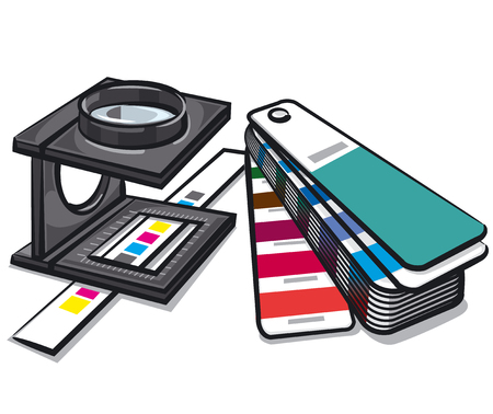 Illustration of equipments tools for print