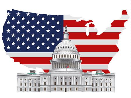 워싱턴 dc에있는 미국 랜드 마크 백악관의 그림