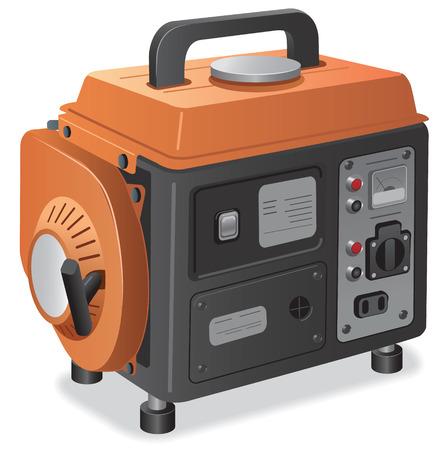 Illustration of small home power generator