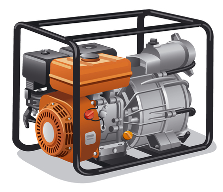 illustration of industrial and home immovable power generator