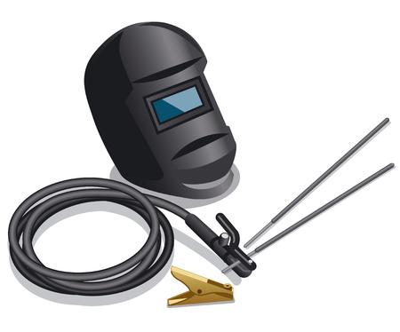 illustration of equipment for welding works Illustration