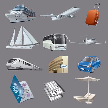 Définissez des images pour les voyages et la station balnéaire