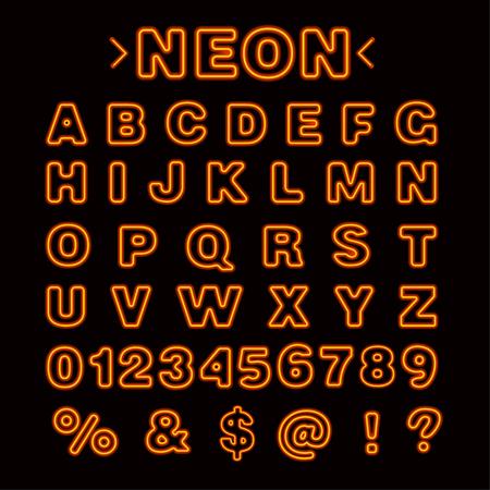 Illustration of The Neon Lights English Alphabet capital letters vector 向量圖像