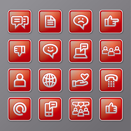 illustration of social media and network icons set