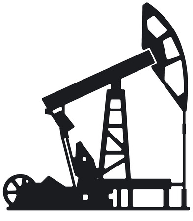 Illustration der Ölindustrie Bohrturm Silhouette