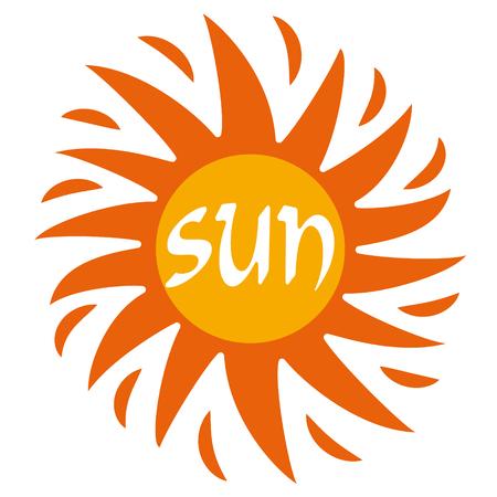 Burning sun Ilustração