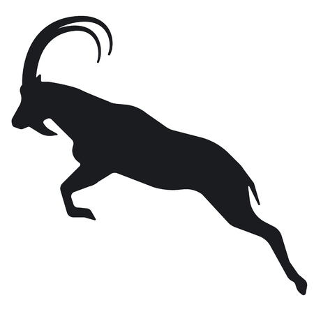 Symbol of a mountain goat silhouette