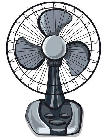 Electric fan  on white Illusztráció
