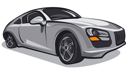 illustration of the elegance car on the white background Banque d'images - 133139844