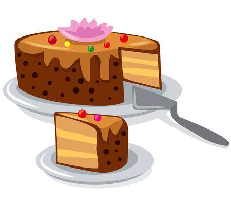 illustration of the tart on the white background Illustration