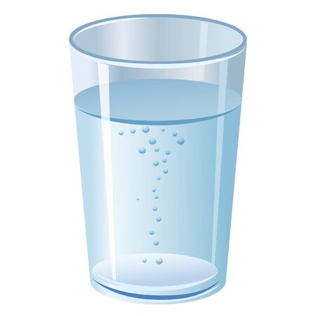 Glass with pure clean water