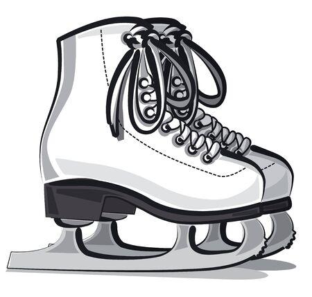 Paire de patins artistiques blancs pour femmes
