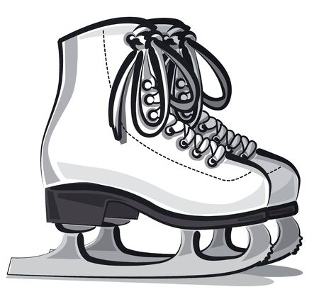 Weißes Paar Eiskunstlaufschuhe für Damen