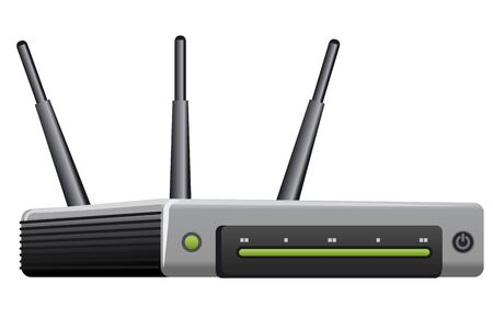 Wireless router on the white