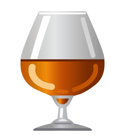 illustration of the cognac and brandy glass icon