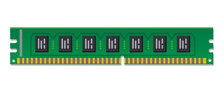 illustration of the RAM memory module computer chip