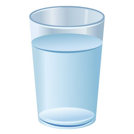 illustration of the glass with pure clean water
