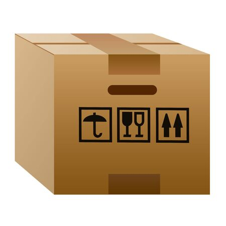 illustration of the cardboard delivery box packaging