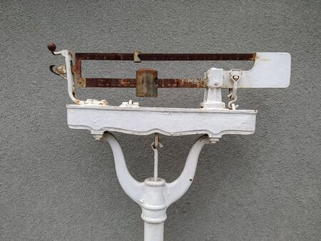photo image of the old vintage scales
