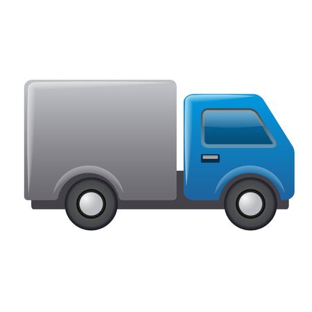 illustration of the lorry truck car icon on the white background