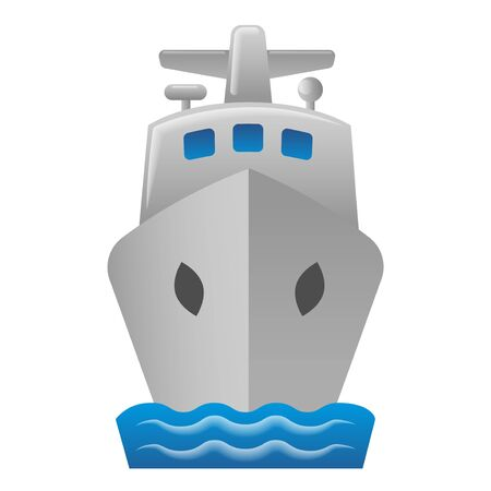 illustration of the cruise liner icon in the sea Illustration